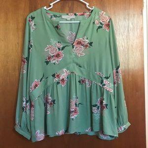 Pretty floral Loft blouse